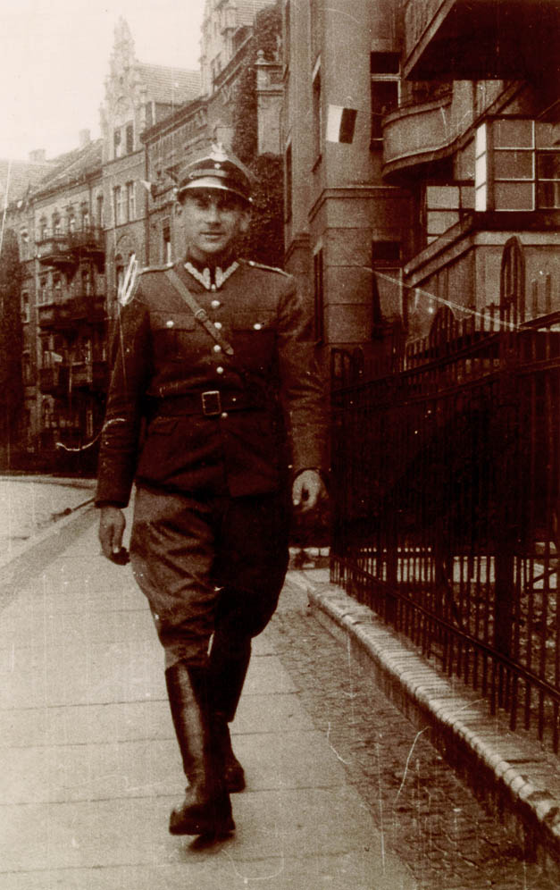 Norman Salsitz while under the assumed identity Tadeusz Zaleski. Legnica, Poland, 1945.