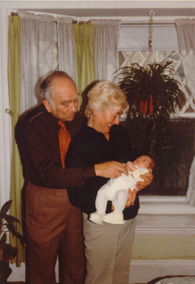 Norman and Amalie with their first grandchild, Dustin. March 11, 1983.