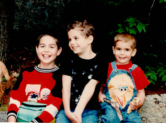 Norman's grandchildren, Dustin, Aaron, and Michael. September 30, 1993.
