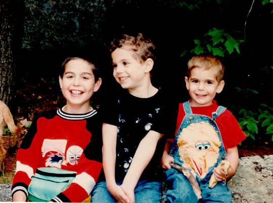 Norman's grandchildren, Dustin, Aaron, and Michael. September 30, 1993.