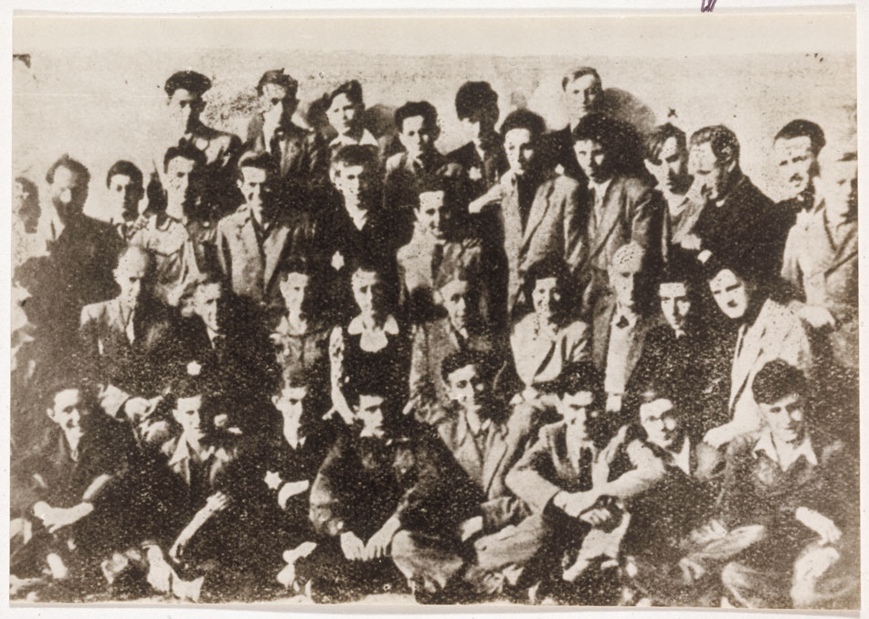 Dawid Sierakowiak (seen here in the 3rd row, 4th from right)