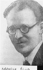 Abraham Blum, leader of the Bund (Jewish Socialist...