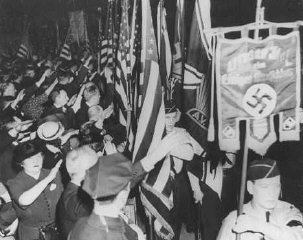 Pro-Nazi German American Bund rally at Madison Square...