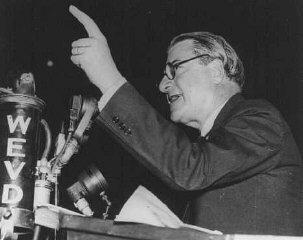 Rabbi Stephen S. Wise, president of the American Jewish...