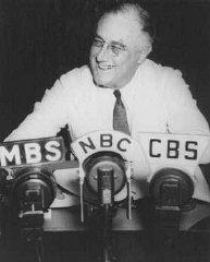 Presidente Franklin D. Roosevelt en la Oficina Oval...