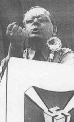 Fritz Kuhn, head of the antisemitic and pro-Nazi German...