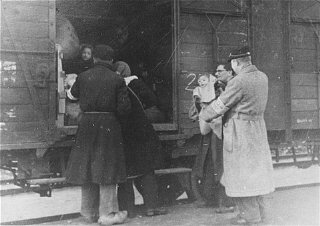 Deportation from the Westerbork transit camp.