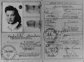 Vladya Meed'in Varşova'nın Aryan bölümünde 1940–1942...