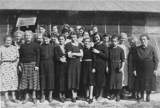 Prisoners at Gurs detention camp.