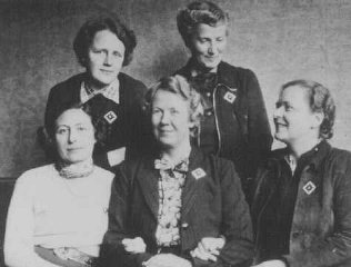 Quaker delegates of the American Friends Service Committee...