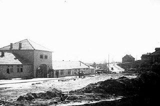 Vue partielle du camp de concentration de Plaszow.
