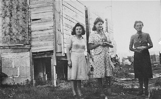 Women prisoners in the Gurs camp.