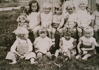 Young children in the Gurs camp.
