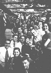 A gathering of Jewish youth from Rhodes.