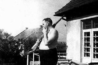 Amon Goeth, commandant of the Plaszow camp.