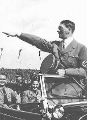 Hitler salutes the youth ranks at the Nazi Party Co...