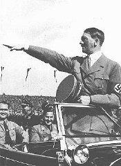 Hitler salue les jeunes rangs du congrès du Parti n...