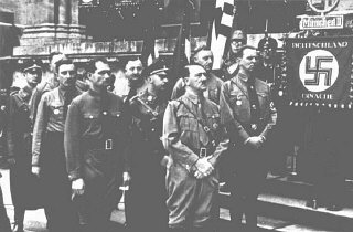 Adolf Hitler and other participants in the Hitler Putsch...