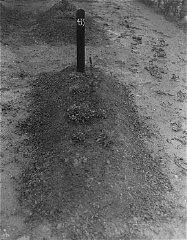 View of one of the mass graves at the Hadamar Insti...