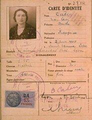 Carte d'identité de Berthe Levy Cahen, émise par la...