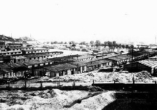 View of a section of the Plaszow camp. Plaszow, Poland, 1944.