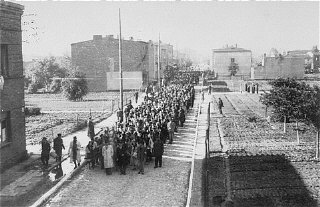 Deportation of Jews from the Lodz ghetto. Poland, August 1944.