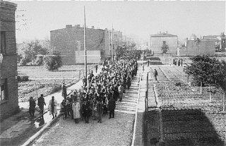Déportation des Juifs du ghetto de Lodz.