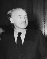 Defendant Julius Streicher, former editor of the racist...