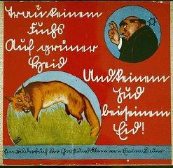 Capa de um livro infantil alemão anti-semita intitulado...