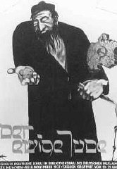 Poster realizzato nell'ambito della mostra anti-semita...