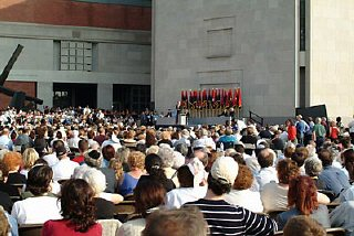 View of a ceremony held during the Museum's Tribute...