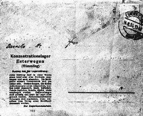 Una postal oficial para el uso de prisioneros del campo...