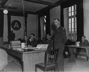 The American prosecution team at the Mauthausen concentration...