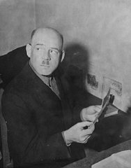 Defendant Fritz Sauckel in his prison cell.
