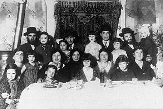 Portrait of the Ehrlich family. Munkacs, Czechoslovakia...