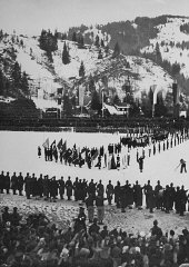 Closing ceremonies of the 4th Winter Olympic Games....