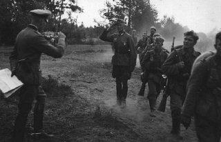 Infantaria alemã durante a invasão da União Soviética...