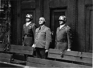 Defendant Gottlob Berger, former chief of the SS Main Office, is sentenced to 25 years in prison. April 13, 1949.