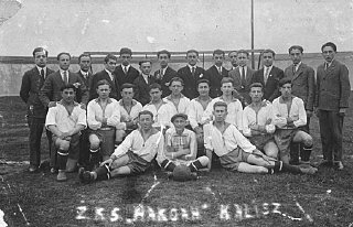 A soccer team of the Jewish sports club, Ha-koach (The...