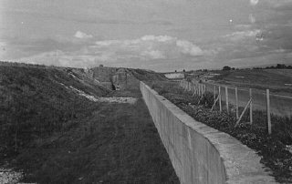 A view of the Maginot Line, a French defensive wall...