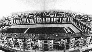 Este complejo de varios pisos fue el campo de tránsito...