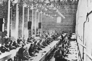 Prisoners at forced labor in the Siemens factory.