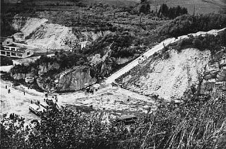The quarry of the Mauthausen concentration camp.