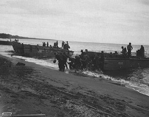 US troops land on Guadalcanal, in the Solomon Islands...