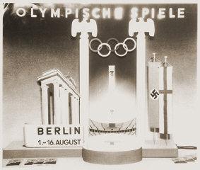 Una delle pubblicità create per gli XI Giochi Olimpici...