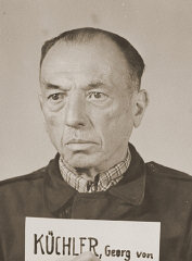 Mug shot of former German Field Marshal Georg von Küchler, a defendant in the High Command Case.