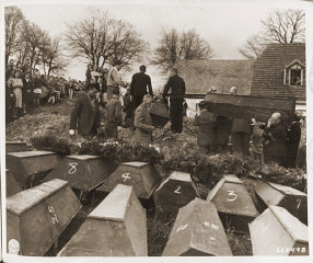 German civilians from Volary attend burial services...