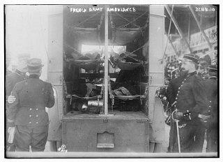 A French army ambulance during World War I.