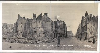 1919 photograph showing destruction in the leading...