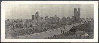 1919 photograph showing World War I destruction in...